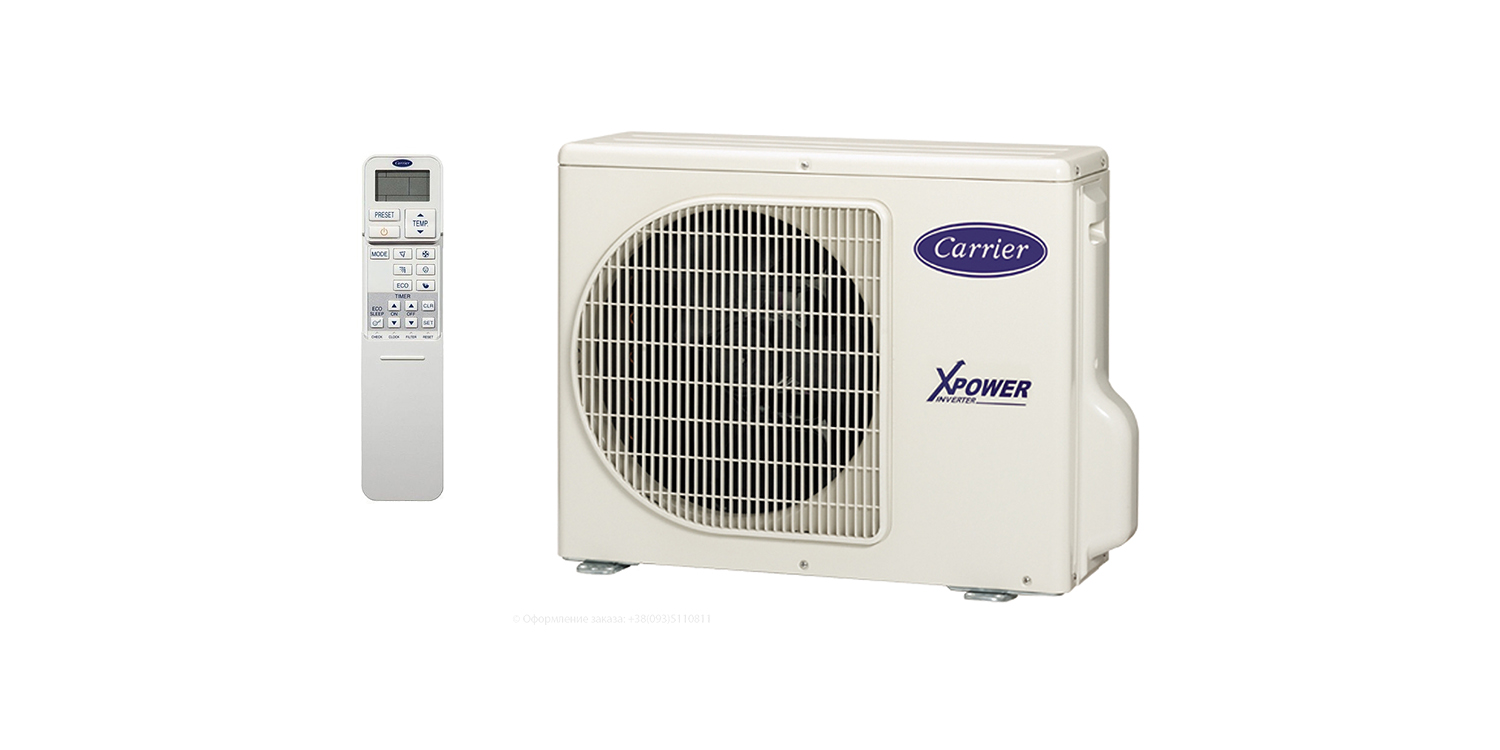 Carrier-X-Power-Gold-42UQV025M-38UYV025M-outside-block-remote-control